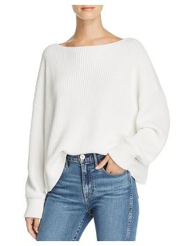 Millie Mozart Knits Cotton Boat Neck Sweater by French Connection