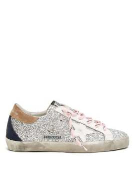 Superstar Glitter Trainers by Golden Goose