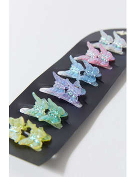 Vintage Mini Glitter Butterfly Clip Set  by Urban Renewal