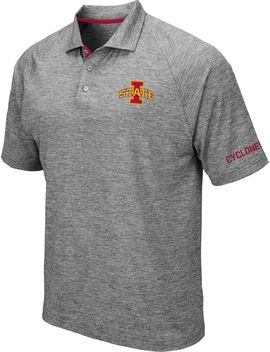 Colosseum Men's Iowa State Cyclones Grey Chip Shot Polo by Colosseum