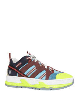 Men's Union Icon Stripe Mixed Media Sneakers by Burberry