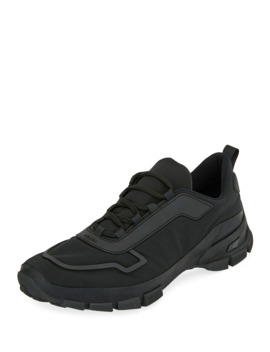 Men's Gabardine Soft Runner Sneakers by Prada