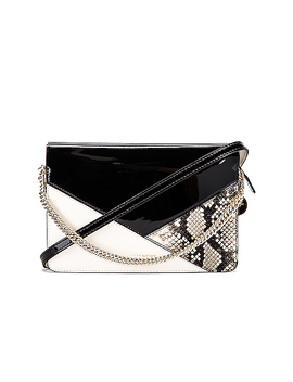 Flat Mixed Leather Cross Bag by Givenchy