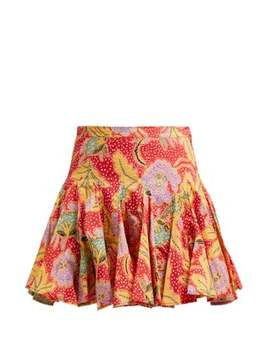 Nora Floral Print Mini Skirt by Rhode