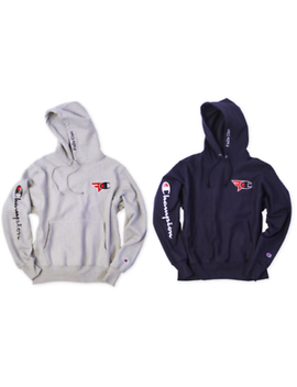 Champion X Fa Ze Clan Gray / Navy Blue Limited Edition Reverse Weave Hoody by Champion