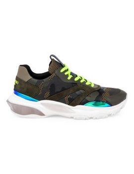 Bounce Camouflage Low Top Sneakers by Valentino Garavani