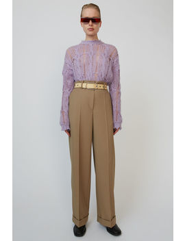 Paperbag Waist Trousers Sand Beige by Acne Studios