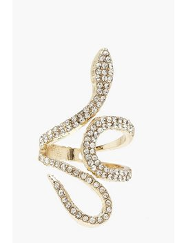 Diamante Statement Ring by Boohoo