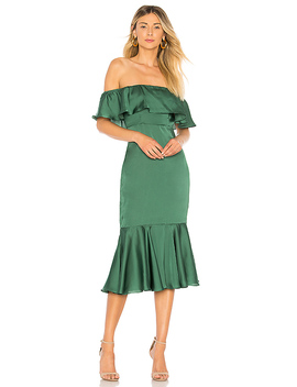 Laguna Midi Dress In Green by Lovers + Friends
