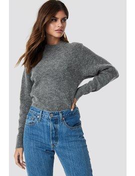 Wool Blend Raglan Sleeve Sweater Grey by Na Kd Trend