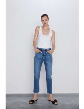 Z1975 Frayed Hem Jeans View All Jeans Woman by Zara
