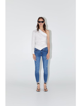 Zw Premium Skinny Jeans In Island Blue View All Jeans Woman by Zara