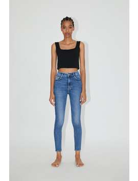 Hi Rise Sculpt Jeans High Waist Jeans Woman by Zara