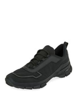 Men's Gabardine Soft Runner Sneakers by Prada