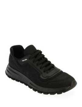 Men's Gabardine Soft Low Top Sneakers by Prada