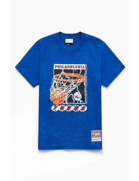 Mitchell & Ness Lightning 76ers T Shirt by Pacsun
