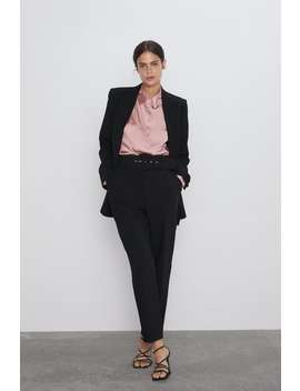 Asymmetric Satin Effect Shirt View All Shirts by Zara