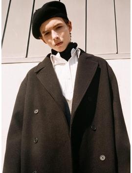 [Unisex] Oversized Double Long Coat Black by Evanlaforet