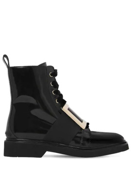 30 Mm Viv Rangers Brushed Leather Boots by Roger Vivier