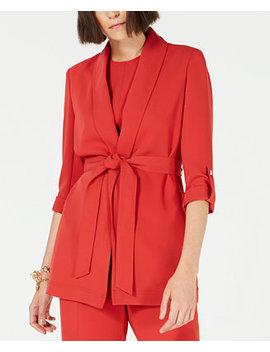 Belted Shawl Collar Jacket, Created For Macy's by General