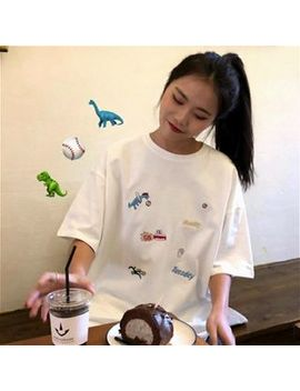 Anlay   Short Sleeve Embroidered T Shirt by Anlay