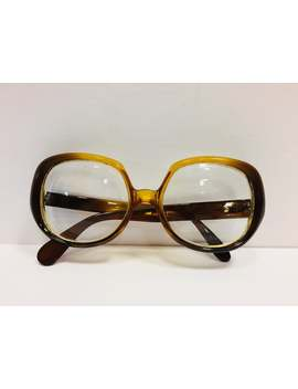 Vintage Christian Dior Optyl Sunglasses 140 51/2 Oversized Amber Frames, Prescription Sunglasses As Found by Etsy
