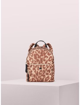 Taylor Leopard Small Backpack by Kate Spade