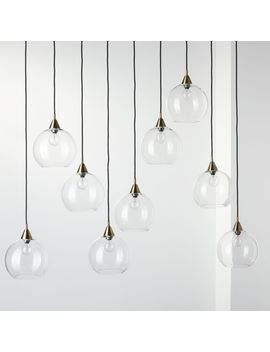 Firefly 9 Bulb Brass Pendant Light by Crate&Barrel