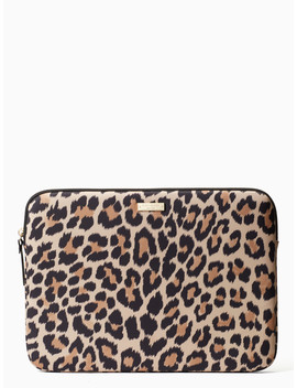 "13"" Leopard Laptop Sleeve by Kate Spade"