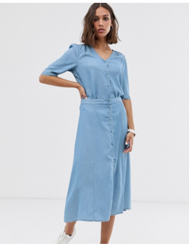 Selected Femme Chambray Button Through Top by Selected