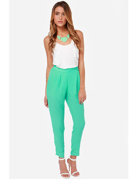 Give It Your All Mint Green Pants by Honey Punch