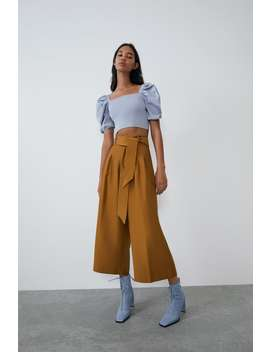 Culottes With Belt New Intrf by Zara