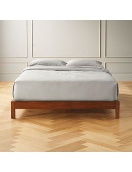 Simple Wood Bed Base Full by Crate&Barrel