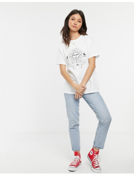 Daisy Street Relaxed T Shirt With Solstice Print by Daisy Street