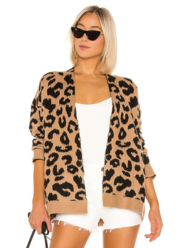 Draya Leopard Cardigan In Mocha by Superdown