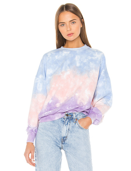 Tie Dye Pullover In Pastel Ombre by Lovers + Friends