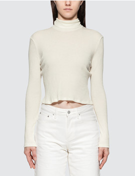 rib-cropped-turtle-neck by  ------------john-elliott --------