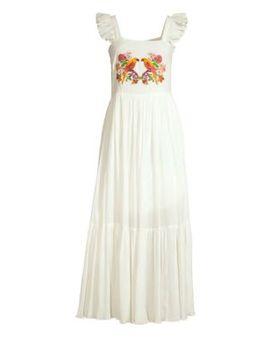 Ruffle Sleeve Maxi Dress by Carolina K