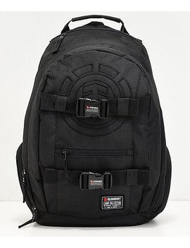 Element Mohave Black Logo Black Backpack by Element