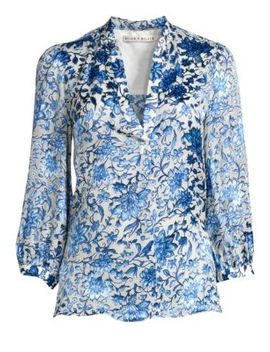 Sheila Silk Blend Floral Blouse by Alice + Olivia