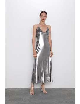 Vestido Metalizado Tirantes Ver Todo Vestidos Mujer by Zara