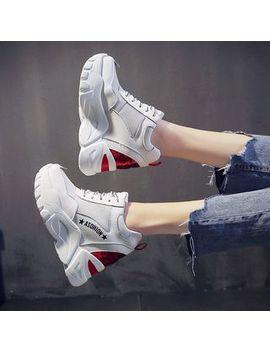 Sleeko   Sequined Mesh Panel Platform Sneakers by Sleeko