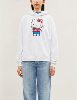 Levi's X Hello Kitty Unbasic Branded Cotton Jersey Hoody by Levi's