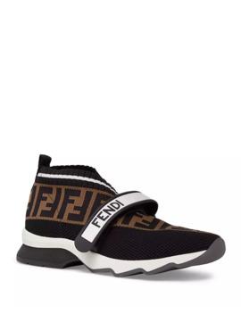 Rockoko Ff Knit Sneakers by Fendi