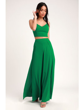 Out Tonight Green Two Piece Jumpsuit by Lulus