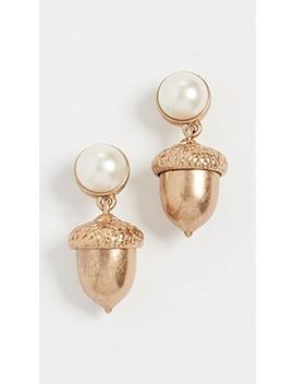 Acorn Charm Earrings by Tory Burch
