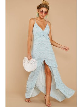 Find Your Truth Light Blue Maxi Dress by Cotton Candy