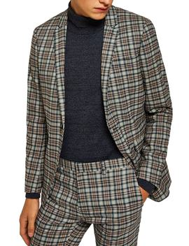 Ultra Skinny Fit Check Suit Jacket by Topman