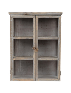 Whitewash Wood Wall Cabinet by Hobby Lobby