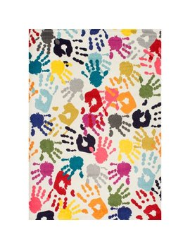 Nu Loom Machine Made Pinkie Handprint Kids Area Rug by Nu Loom
